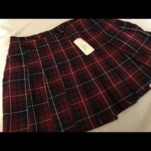 F21 plaid skirt
